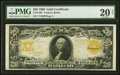 Large Size:Gold Certificates, Fr. 1186* $20 1906 Gold Certificate PMG Very Fine 20 Net.. ...