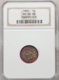 Indian Cents: , 1890 1C MS64 Red and Brown NGC. NGC Census: (218/77). PCGS Population: (320/72). CDN: $235 Whsle. Bid for problem-free NGC/...
