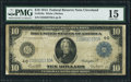Large Size:Federal Reserve Notes, Fr. 919a $10 1914 Federal Reserve Note PMG Choice Fine 15.. ...