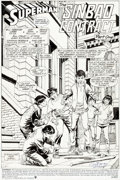 "Original Comic Art:Complete Story, Curt Swan and Dennis Janke Superman #48 Complete 22-Page Story ""The Sinbad Contract, Part 1"" Original Art (DC, 199... (Total: 22 Original Art)"