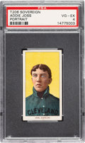Baseball Cards:Singles (Pre-1930), 1909-11 T206 Sovereign 150 Addie Joss (Portrait) PSA VG-EX 4 - Pop One, None Higher for Brand/Series. ...