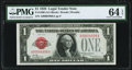 Small Size:Legal Tender Notes, Low Serial Number 4998 Fr. 1500 $1 1928 Legal Tender Note. PMGChoice Uncirculated 64 EPQ.. ...