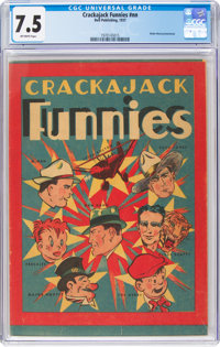 Crackajack Funnies Giveaway #nn (Dell, 1937) CGC VF- 7.5 Off-white pages