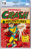 Golden Age (1938-1955):Superhero, Crash Comics #1 (Tem Publishing Co., 1940) CGC FN/VF 7.0 Off-white to white pages....