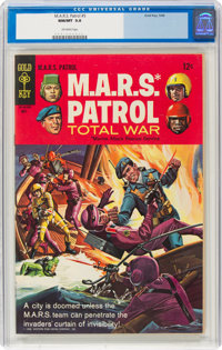 M.A.R.S. Patrol Total War #5 (Gold Key, 1968) CGC NM/MT 9.8 Off-white pages