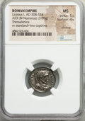 Ancients:Roman Imperial, Ancients: Licinius I (AD 308-324). AE3 or BI nummus (18mm, 3.09 gm,7h). NGC MS 5/5 - 4/5, Silvering. ...