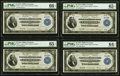 Fr. 757 $2 1918 Federal Reserve Bank Notes Cut Sheet of Four PMG Graded