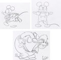 Animation Art:Concept Art, Mickey Mouse and Pete Concept Drawings by Bobby London Group of 3(Walt Disney, c. 1985).... (Total: 3 Original Art)