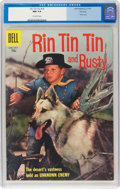 Silver Age (1956-1969):Adventure, Rin Tin Tin and Rusty #19 File Copy (Dell, 1957) CGC NM 9.4 Off-white pages....
