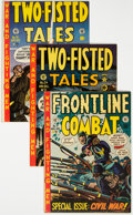 Golden Age (1938-1955):Science Fiction, Frontline Combat and Two-Fisted Tales Group of 3 (EC, 1950s) Condition: Average FN/VF.... (Total: 3 Comic Books)