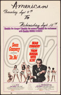 """Movie Posters:James Bond, Dr. No/From Russia with Love Combo (United Artists, R-1965). Folded, Fine/Very Fine. Window Card (14"""" X 22""""). James Bond.. ..."""