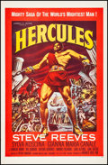 "Movie Posters:Action, Hercules (Warner Brothers, 1959). Fine/Very Fine on Linen. One Sheet (27"" X 41.5""). Action.. ..."