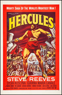 """Hercules (Warner Brothers, 1959). Fine/Very Fine on Linen. One Sheet (27"""" X 41.5""""). Action"""