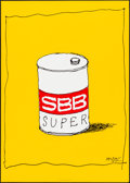 "Movie Posters:Miscellaneous, SBB Super by Herbert Leupin (1978). Rolled, Very Fine. Art Print (35.75"" X 50.5""). Miscellaneous.. ..."