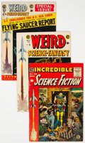 Golden Age (1938-1955):Science Fiction, Weird Science-Fantasy and Incredible Science Fiction Group of 3 (EC, 1950s) Condition: Average FN.... (Total: 3 Comic Books)