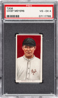 Baseball Cards:Singles (Pre-1930), 1909-11 T206 Sovereign 460 Chief Meyers (Portrait) PSA VG-EX 4 - Pop Two, Two Higher for Brand. ...