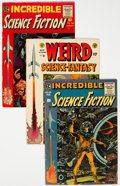 Golden Age (1938-1955):Science Fiction, Incredible Science Fiction and Weird Science-Fantasy Group of 7 (EC, 1950s) Condition: Average VG+.... (Total: 7 Comic Books)