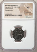 Ancients:Byzantine, Ancients: Manuel I Comnenus (AD 1143-1180). AE tetarteron (5.43 gm). NGC XF, light scratches....