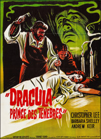 "Dracula, Prince of Darkness (20th Century Fox, 1966). Folded, Very Fine. French Grande (46.25"" X 63""). Horror..."