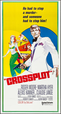 "Crossplot (United Artists, 1970). Folded, Very Fine+. International Three Sheet (41"" X 77""). Thriller"