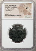 Ancients:Roman Provincial , Ancients: Augustus (27 BC-AD 14), with Marcus Agrippa. AE dupondius (27mm, 1h). NGC VF....