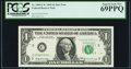 Small Size:Federal Reserve Notes, Fr. 1903-C* $1 1969 Federal Reserve Star Note. PCGS Superb Gem New 69PPQ.. ...
