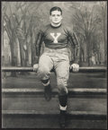 Football Collectibles:Photos, Signed Clint Frank (1937 Heisman Trophy Winner) Magazine Page. ...
