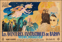 "The Adventures of Baron Munchausen (UFA, 1943). Fine- on Linen. French Double Grande (63"" X 92.25"") Jean Rene..."