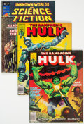Magazines:Superhero, The Rampaging Hulk Group/Unknown Worlds of Science Fiction Group of16 (Marvel, 1975-78) Condition: Average FN/VF.... (Total: 16 )
