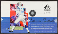 2000 Upper Deck SP Authentic Football Unopened Hobby Box - Tom Brady Rookie Year!