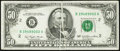 Error Notes:Gutter Folds, Gutter Fold Error Fr. 2119-B $50 1977 Federal Reserve Note. Very Fine-Extremely Fine.. ...
