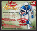 Football Cards:Boxes & Cases, 2000 Fleer Showcase Football Unopened Hobby Box With 24 Packs - Tom Brady Rookie Year....