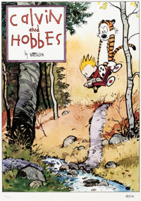 Bill Watterson Calvin and Hobbes Signed Limited Edition Lithograph Print #126/1000 (Watterson, 1992).... (Total: 2 Items...
