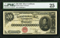 Large Size:Silver Certificates, Fr. 312 $20 1880 Silver Certificate PMG Very Fine 25.. ...
