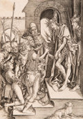 Prints & Multiples:Old Master, After Martin Schongauer . By Adriaen Huybrechts. Ecce Homo. Engraving on laid paper. 6-3/8 x 4-1/2 inches (16.2 x 11...