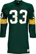 Football Collectibles:Uniforms, 1968-69 Jim Grabowski Game Worn & Signed Green Bay Packers Jersey, MEARS A9....
