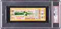 Football Collectibles:Tickets, 1965 NFL Championship Game Packers vs. Browns Full Ticket, PSA Authentic. ...
