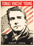 Prints & Multiples:Print, Shepard Fairey (b. 1970). Thomas Young Tribute, 2017. Screenprint in colors speckled cream paper. 24 x 18 inches (61 x 4...