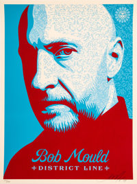 Shepard Fairey (b. 1970) Bob Mould, 2008 Screenprint in colors on speckled cream paper 24 x 18 in