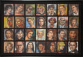 Paintings, Max Schumann (American, 20/21st Century). Untitled (28 Portraits). Acrylic on cardboard, each. 9 x 7-1/2 inches (22.9 x ...