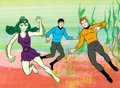 Animation Art:Limited Edition Cel, Star Trek: The Animated Series Captain Kirk and Spock Limited Edition Cel (Filmation, 1976).. ...