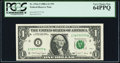 Small Size:Federal Reserve Notes, Near Solid Serial Number 72777777 Fr. 1916-I $1 1988A Federal Reserve Note. PCGS Very Choice New 64PPQ.. ...