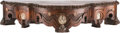 Furniture , A Continental Oak Bracket Shelf with Cameo Horn Inlays, late 19th century. 6-1/4 x 30-1/2 x 10-1/2 inches (15.9 x 77.5 x 26....