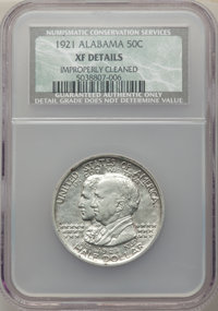 1921 50C Alabama -- Improperly Cleaned -- NCS. XF Details. NGC Census: (12/1984). PCGS Population: (19/2512). CDN: $90 W...