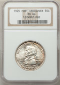 Commemorative Silver, 1925 50C Vancouver MS64 NGC. NGC Census: (852/881). PCGS Population: (1097/1205). MS64. Mintage 14,994. ...