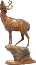 Sculpture, Melissa J. Cooper (American, 20th Century). Sweet Scent, 1994. Bronze with red patina. 17-1/2 inches (44.5 cm) high on a...
