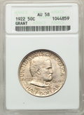 1922 50C Grant No Star AU58 ANACS. CDN: $95 Whsle. Bid for problem-free NGC/PCGS AU58. Mintage 67,405. ...(PCGS# 9306)