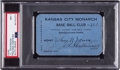 Baseball Collectibles:Others, 1923 Kansas City Monarchs Season Pass Signed by J.L. Wilkinson, PSA/DNA NM 7....