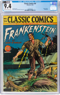 Classic Comics #26 Frankenstein - Original Edition (Gilberton, 1945) CGC NM 9.4 Cream to off-white pages