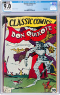 Golden Age (1938-1955):Classics Illustrated, Classic Comics #11 Don Quixote Original Edition (Gilberton, 1943) CGC VF/NM 9.0 Cream to off-white pages....